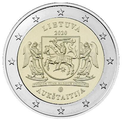 Liettua 2 € 2020 Aukštaitija