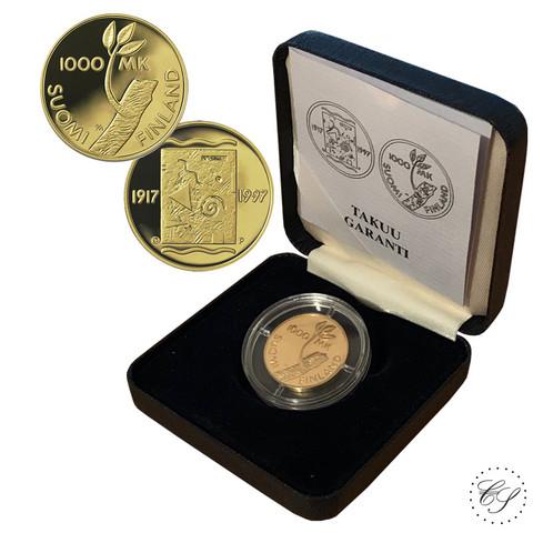 Suomi 1000 mk 1997 Itsenäisyys 80 vuotta kultaraha