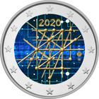 Suomi 2 € 2020 Turun yliopisto 100 v., väritetty (#2)