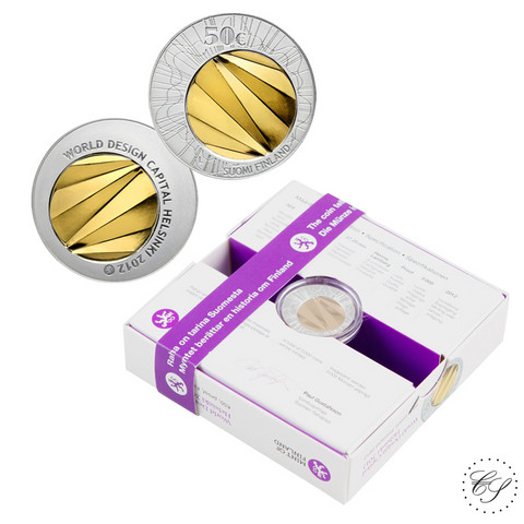 Suomi 50 € 2012 World Design Capital - kultahopeaeuro