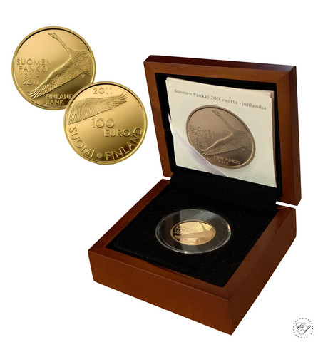 Suomi 100 € 2011 Suomen Pankki 200 vuotta kultaraha