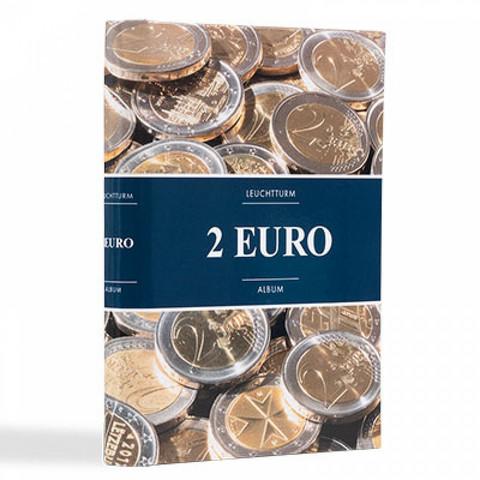 Leuchtturm taskukansio 2 euron kolikoille, 48 paikkaa, uusi design