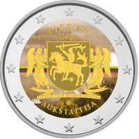 Liettua 2 € 2020 Aukštaitija, väritetty (#2)