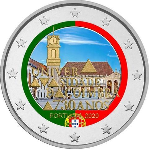 Portugali 2 € 2020 Coimbran yliopisto, väritetty (#2)