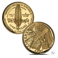 USA 1987 Perustuslaki 200 v. ¼ oz KULTA (puolikotka)