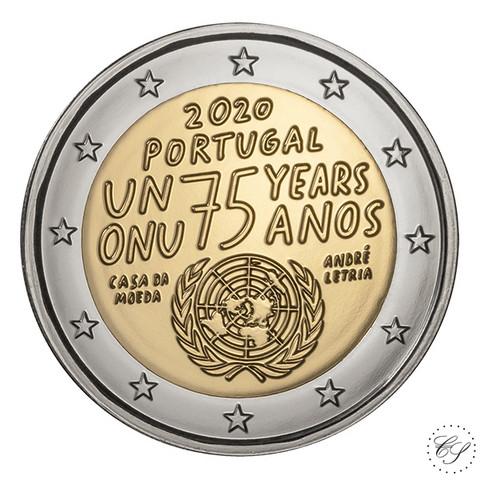 Portugali 2 € 2020 Yhdistyneet Kansakunnat 75 vuotta