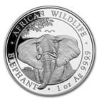 Somalia 100 SOS 2021 Elefantti 1 oz Ag
