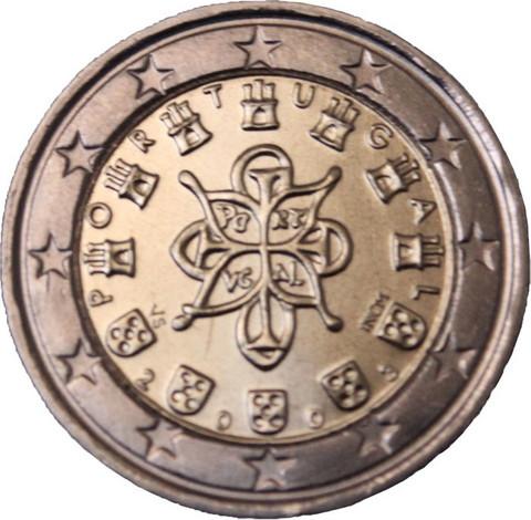 Portugali 2 € 2010 Kuninkaallinen sinetti BU
