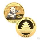 Kiina 2014 Panda ¼ oz timanttipöly & ruthenium KULTA