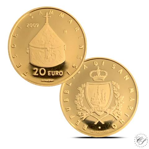 San Marino 20 € 2009 San Marinon aarteet KULTA