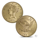 USA 1881 Liberty Head KULTA