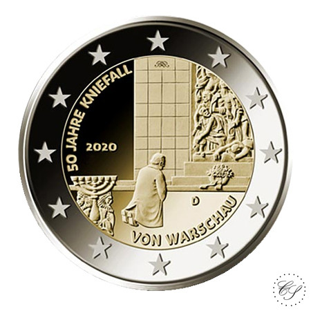 Saksa 2 € 2020 Varsovan polvistuminen 50 v.