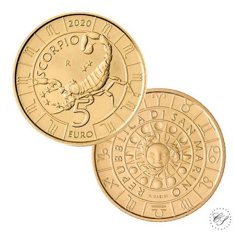 San Marino 5 € 2020 Zodiac - Skorpioni UNC