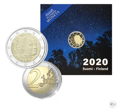 Suomi 2 € 2020 Väinö Linna 100 vuotta, Proof