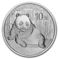 Kiina 2015 Panda 1oz hopearaha
