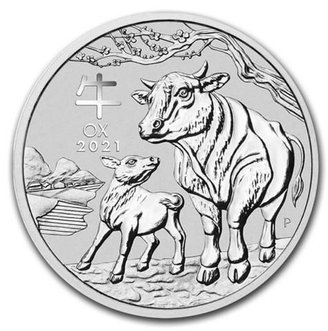 Australia 2021 Lunar III - Härän vuosi 1oz HOPEA