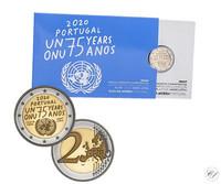 Portugali 2 € 2020 Yhdistyneet Kansakunnat 75 vuotta, Proof