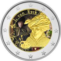 Belgia 2 € 2020 Jan van Eyck, väritetty (#1)