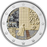 Saksa 2 € 2020 Varsovan polvistuminen 50 v., väritetty (#2)