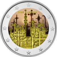 Liettua 2 € 2020 Ristikukkula, väritetty (#2)