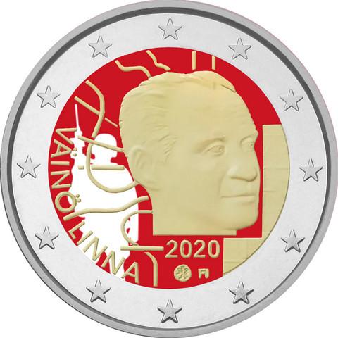 Suomi 2 € 2020 Väinö Linna 100 vuotta, väritetty (#2)