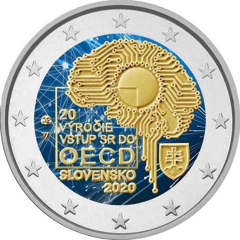 Slovakia 2 € 2020 OECD 20 vuotta, väritetty (#1)