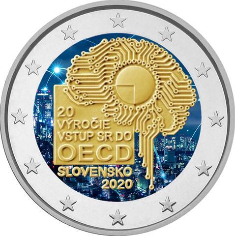 Slovakia 2 € 2020 OECD 20 vuotta, väritetty (#2)