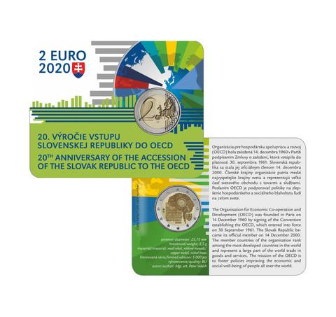 Slovakia 2 € 2020 OECD 20 vuotta BU coincard
