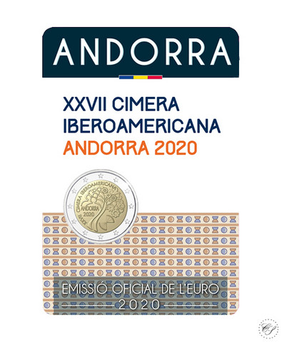 Andorra 2 € 2020 Iberoamerikkalainen huippukokous, BU coincard