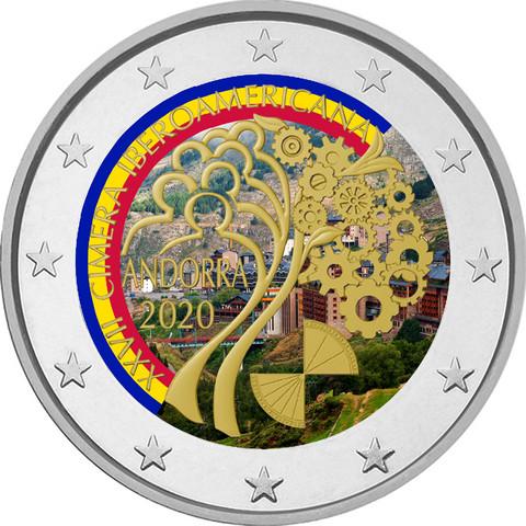 Andorra 2 € 2020 Iberoamerikkalainen huippukokous BU, väritetty (#1)