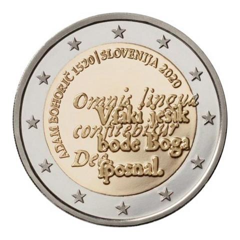 Slovenia 2 € 2020 Adam Bohoric 500 vuotta