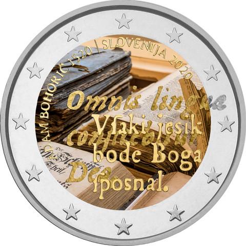 Slovenia 2 € 2020 Adam Bohoric 500 vuotta, väritetty (#2)