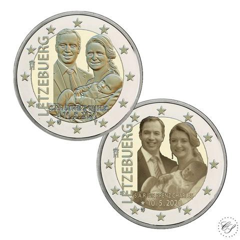 Luxemburg 2 € 2020 Prinssi Charles, molemmat versiot
