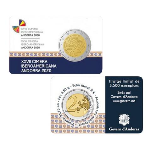 Andorra 2 € 2020 Iberoamerikkalainen huippukokous, Proof