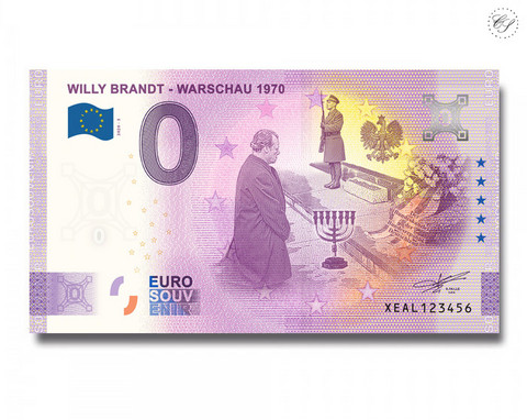 Saksa 0 € 2020 Willy Brandt & Varsova UNC