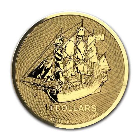 Cook Islands 1/10 oz Bounty 2021 kultakolikko