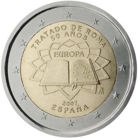 Espanja 2 € 2007 Rooman Sopimus