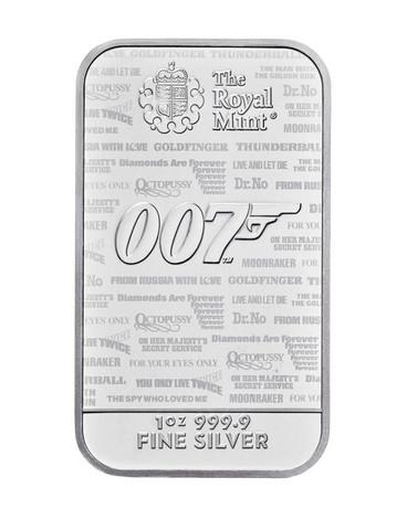 James Bond 007 Kuninkaallinen rahapaja 1oz hopeaharkko