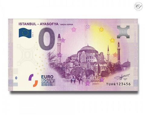 Turkki 0 € 2020 Hagia Sofia -nollaseteli Special Edition UNC