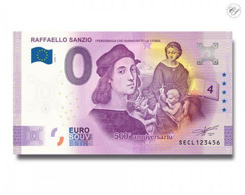 Italia 0 € 2020 Rafaello Sanzio 500 vuotta UNC