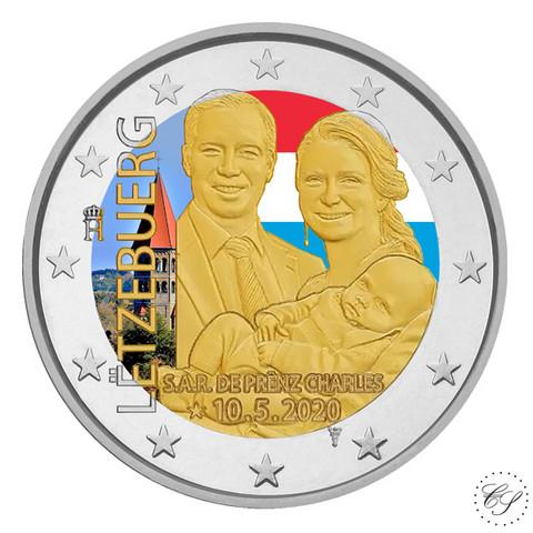 Luxemburg 2 € 2020 Prinssi Charles, väritetty (#1)
