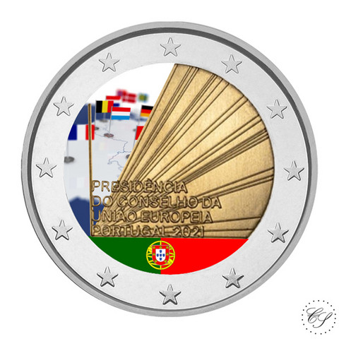 Portugali 2 € 2021 EU-puheenjohtajuus, väritetty (#2)