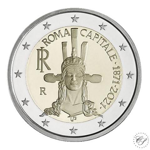Italia 2 € 2021 Pääkaupunki Rooma 150 vuotta