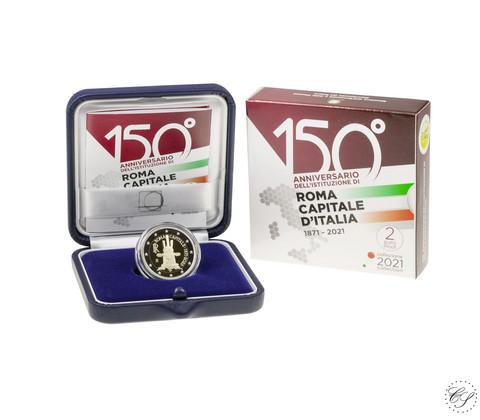 Italia 2 € 2021 Pääkaupunki Rooma 150 v., Proof
