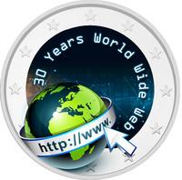 Internet 2 € 2021 juhlaraha, väritetty