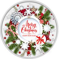 Hyvää Joulua! 2 € 2021 juhlaraha, väritetty