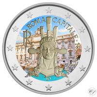 Italia 2 € 2021 Pääkaupunki Rooma 150 vuotta, väritetty (#2)