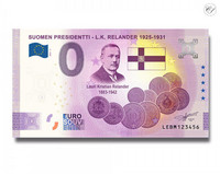Suomi 0 € 2021 L.K. Relander - Suomen Presidentit UNC