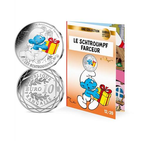 Ranska 2020 Smurffit-hopearaha - Jekkusmurffi väritetty