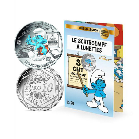 Ranska 2020 Smurffit-hopearaha - Välkkysmurffi